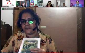 ചില്ല 'എന്റെ വായന' 70 ലക്കം പിന്നിട്ടു; കെ ആർ മീരയുടെ 'ഖബർ' എന്ന നോവൽ അവതരിപ്പിച്ചു പ്രിയ സന്തോഷ്