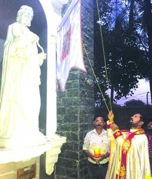 കൽക്കരെ ദേവാലയത്തിൽ തിരുനാളിനു കൊടിയേറി