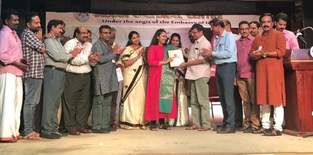 സംസ്കൃതി സിവി ശ്രീരാമൻ സാഹിത്യ പുരസ്കാരം ദിവ്യ പ്രസാദിന് സമ്മാനിച്ചു