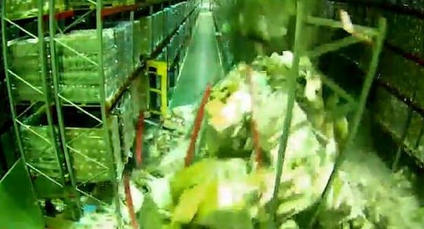 ഫോർക്ക്ലിഫ്റ്റ് ഒന്ന് റാക്കിൽ തട്ടിയാൽ ഇങ്ങനെയൊക്കെ സംഭവിക്കുമോ...? ഒരു വെയർഹൗസിലെ മുഴുവൻ റാക്കുകളും ബൗൺസി കാസിൽ പോലെ തകർന്ന് വീഴുന്ന അത്ഭുത കാഴ്ച കാണാം