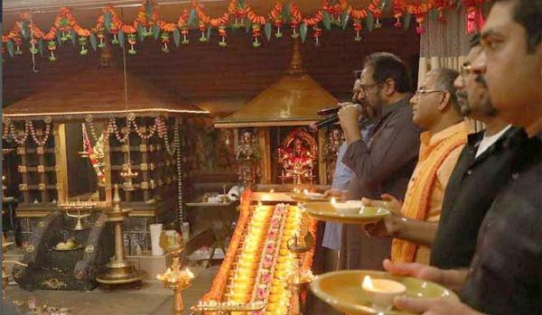 ഭാർഗവ ക്ഷേത്രത്തിലെ അയ്യപ്പജ്യോതി ഏഴാം കടലും കടന്ന് ഷിക്കാഗോയിൽ