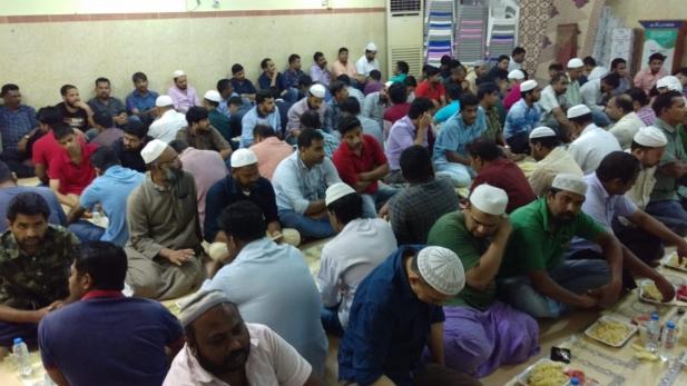 ഐ സി എഫ് ജിദ്ദ സെന്റർ ആസ്ഥാനമായ മർഹബയിൽ സംഘടിപ്പിക്കുന്ന സമൂഹ ഇഫ്താർ മാതൃകയാവുന്നു