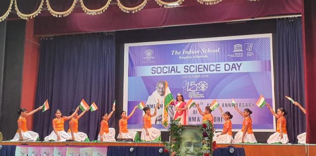 ഗാന്ധിസ്മൃതിയിൽ ഇന്ത്യൻ സ്കൂൾ സാമൂഹ്യ ശാസ്ത്ര ദിനം ആഘോഷിച്ചു
