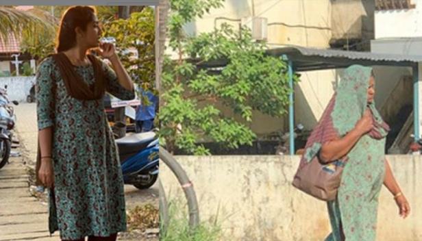 തന്റെ അതേ നിറത്തിലുള്ള വസ്ത്രമണിഞ്ഞ് വഴിയാത്രക്കാരി; അതഭുതപ്പെട്ട് നവ്യാ നായർ