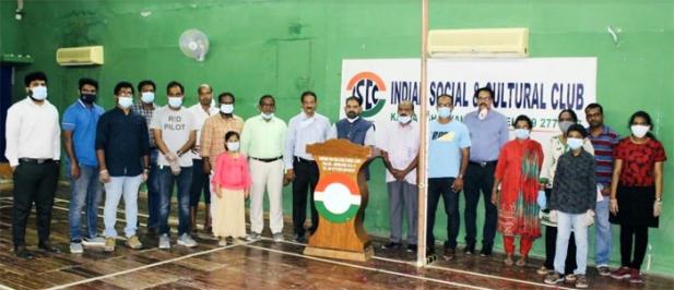കൽബ ഇന്ത്യൻ സോഷ്യൽ ആൻഡ് കൾച്ചറൽ ക്ലബ്ബിൽ സ്വാതന്ത്ര്യദിനമാഘോഷിച്ചു