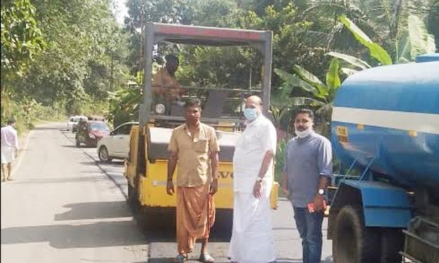 മാണി സി കാപ്പന്റെ കരുതലിൽ രാമപുരം റോഡിന്റെ പുനരുദ്ധാരണ പണികൾക്കു തുടക്കമായി