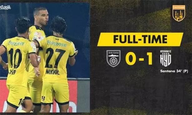 ഐഎസ്എല്ലിൽ ഹൈദരാബാദ് എഫ് സിക്ക് വിജയത്തുടക്കം; ഒഡീഷ എഫ്സിയെ 1-0ത്തിന് തോൽപിച്ചു; വിജയഗോൾ നേടിയത് അരിടാനെ സറ്റാനെ