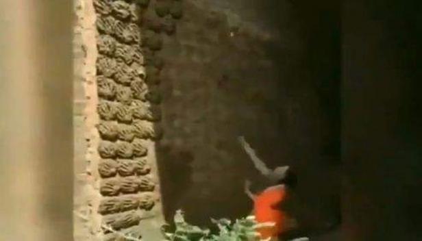 'ഇന്ത്യൻ ബാസ്ക്കറ്റ് ബോൾ ടീം തിരയുന്ന വനിത'; ഉയരമുള്ള മതിലിൽ ചാണകവറളി എറിഞ്ഞ് പതിപ്പിക്കുന്ന സ്ത്രീയുടെ വൈറൽ വീഡിയോ കാണാം